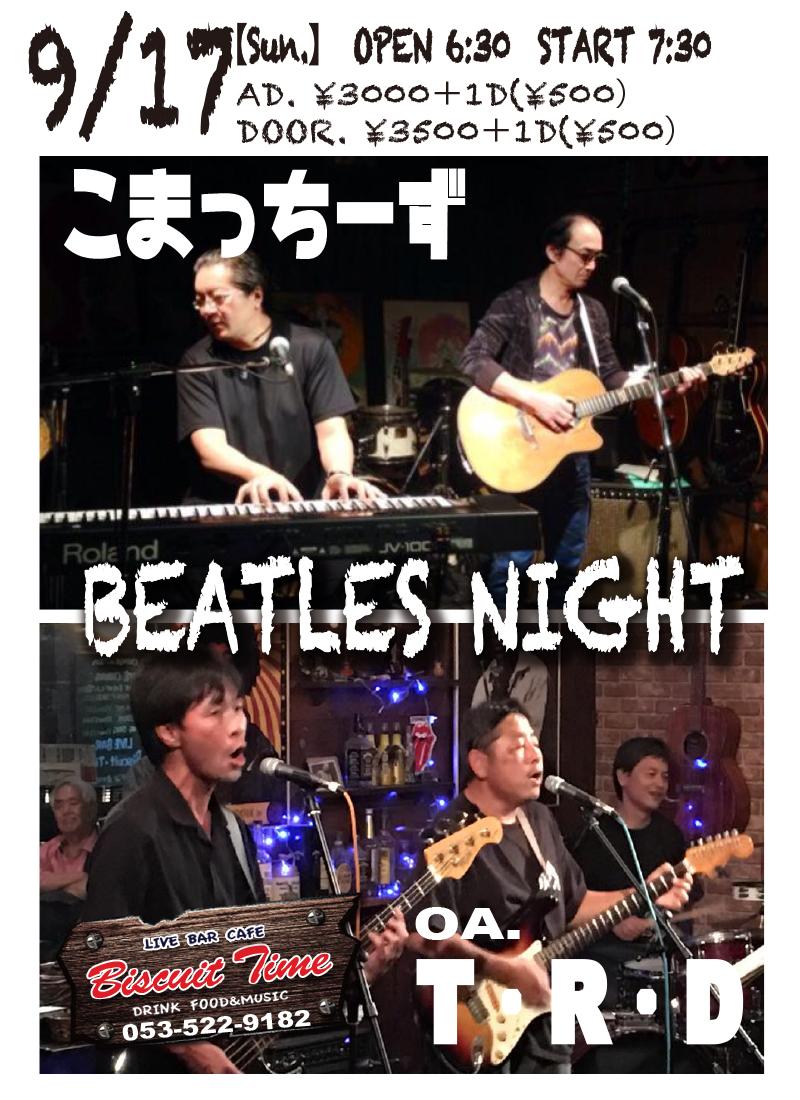 (日) 【BEATLES POPS】  こまっちーず:小松陽介&土屋剛@BT   OA:T・R・D